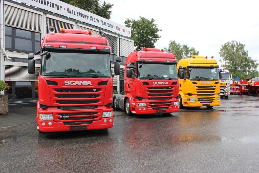 Scania R490 Lowliner rot gelb