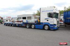 CC Bäuml-Faymonville-4-Achs-Satteltieflader-Scania-Sattelzugmaschine
