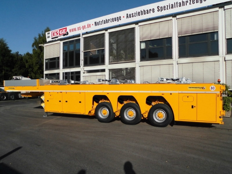 Inloader 3 axles yellow