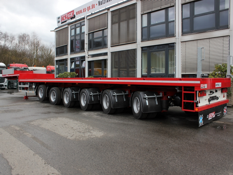 ballast semi-trailer 6 axled gooseneck