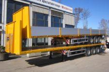Auflieger Sattelanhaenger mit Bordwaenden Doppelpack gelb