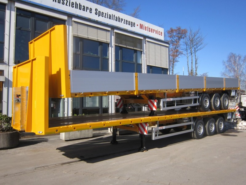 flatbed semi-trailer sideboards 3 axles