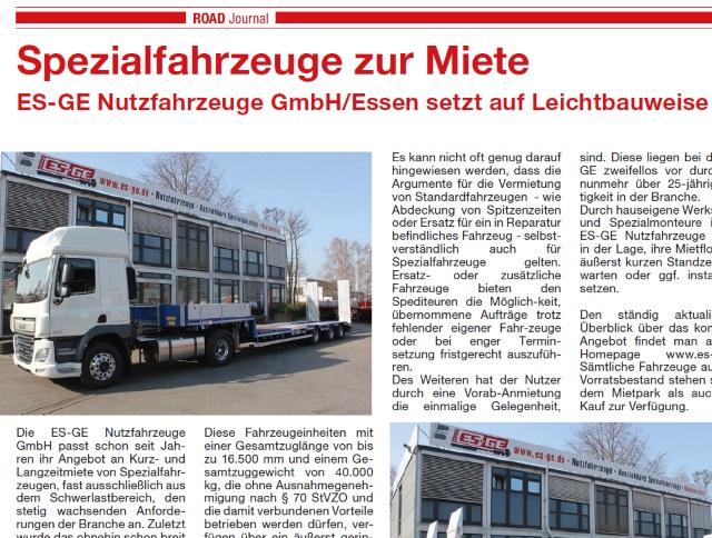 Road Journal Bericht 2015 Leichtbauweise