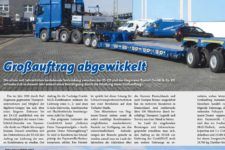 Schwertransportmagazin 68 Grossauftrag Hegmann Transit