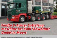 Schwertransportmagazin 70 STM Kahl 5-Achser Scania Faymonville Tierbett