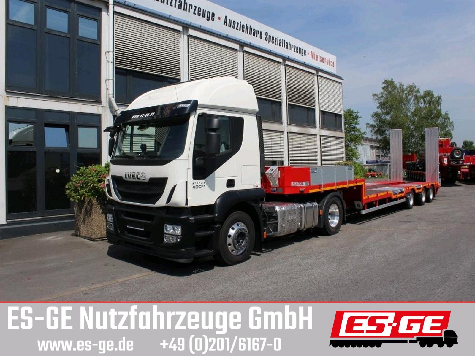 ES-GE 3-Achs-Satteltieflader - Radmulden - Rampen