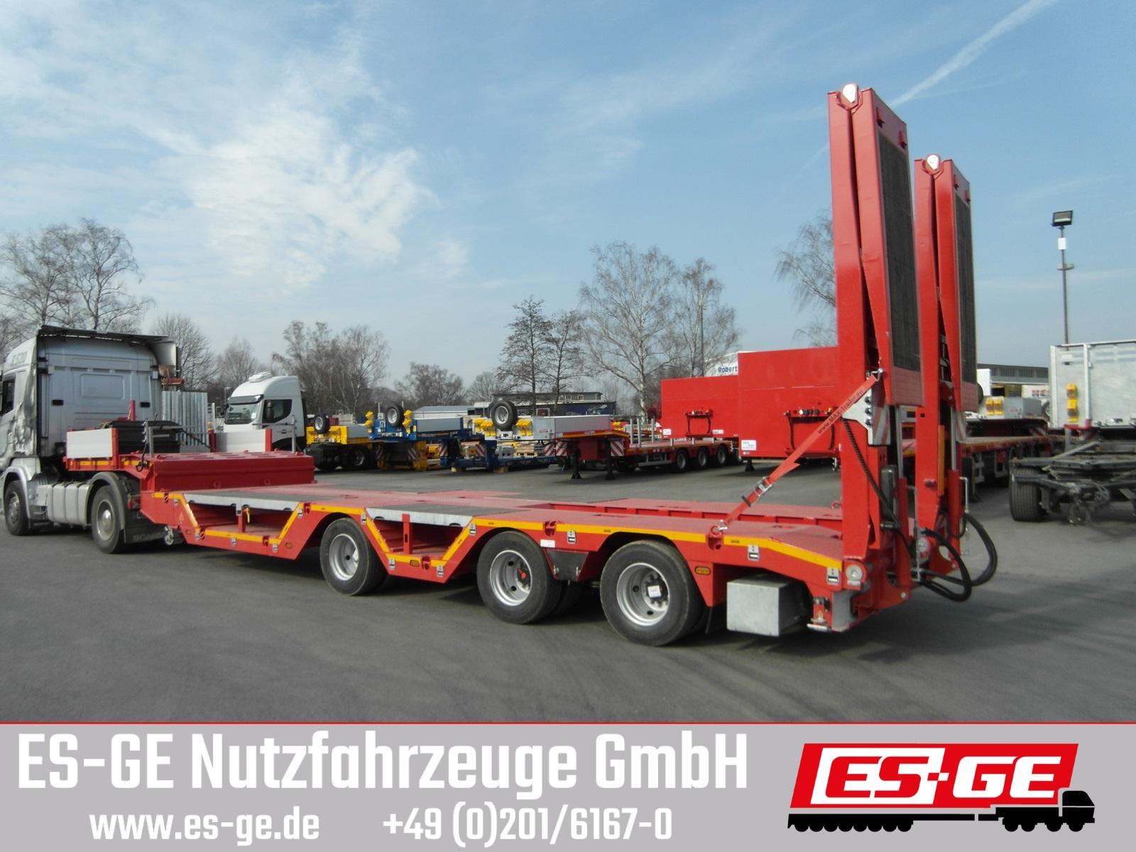 ES-GE 3-Achs-Satteltieflader - Radmulden - tele