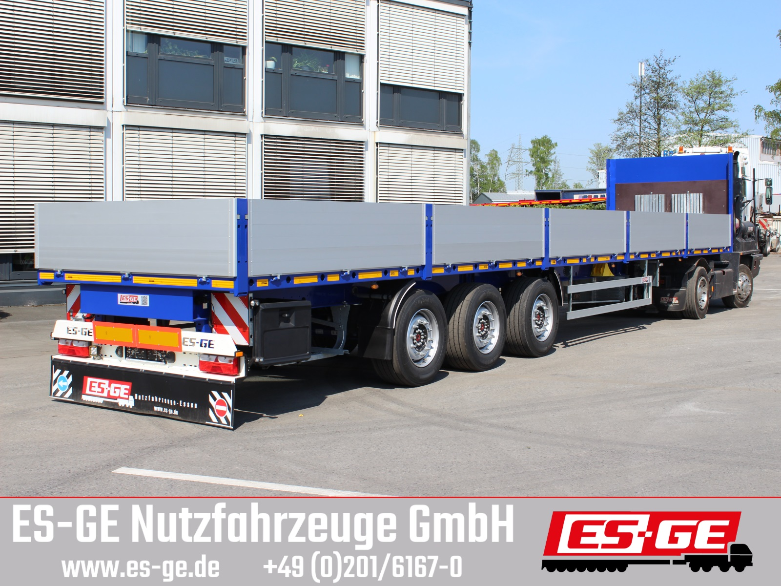 ES-GE 3-Achs-Sattelanhänger - Bordwände - CV