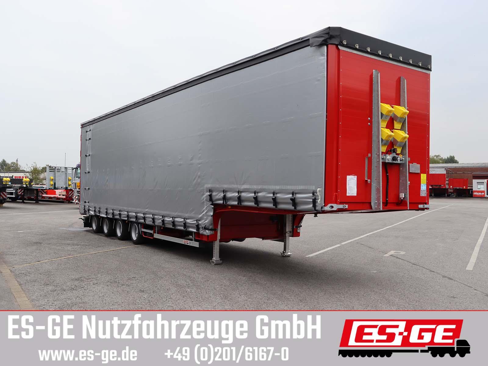 ES-GE 4-Achs-Satteltieflader mit Curtainsider-Aufbau