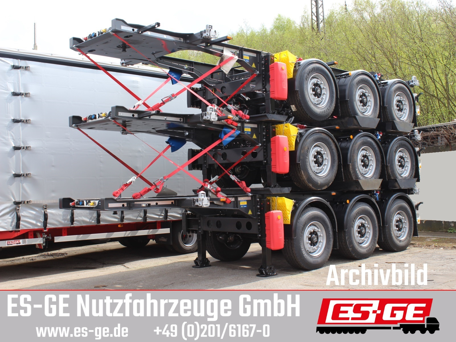 Krone 3-Achs-Containerchassis 20'