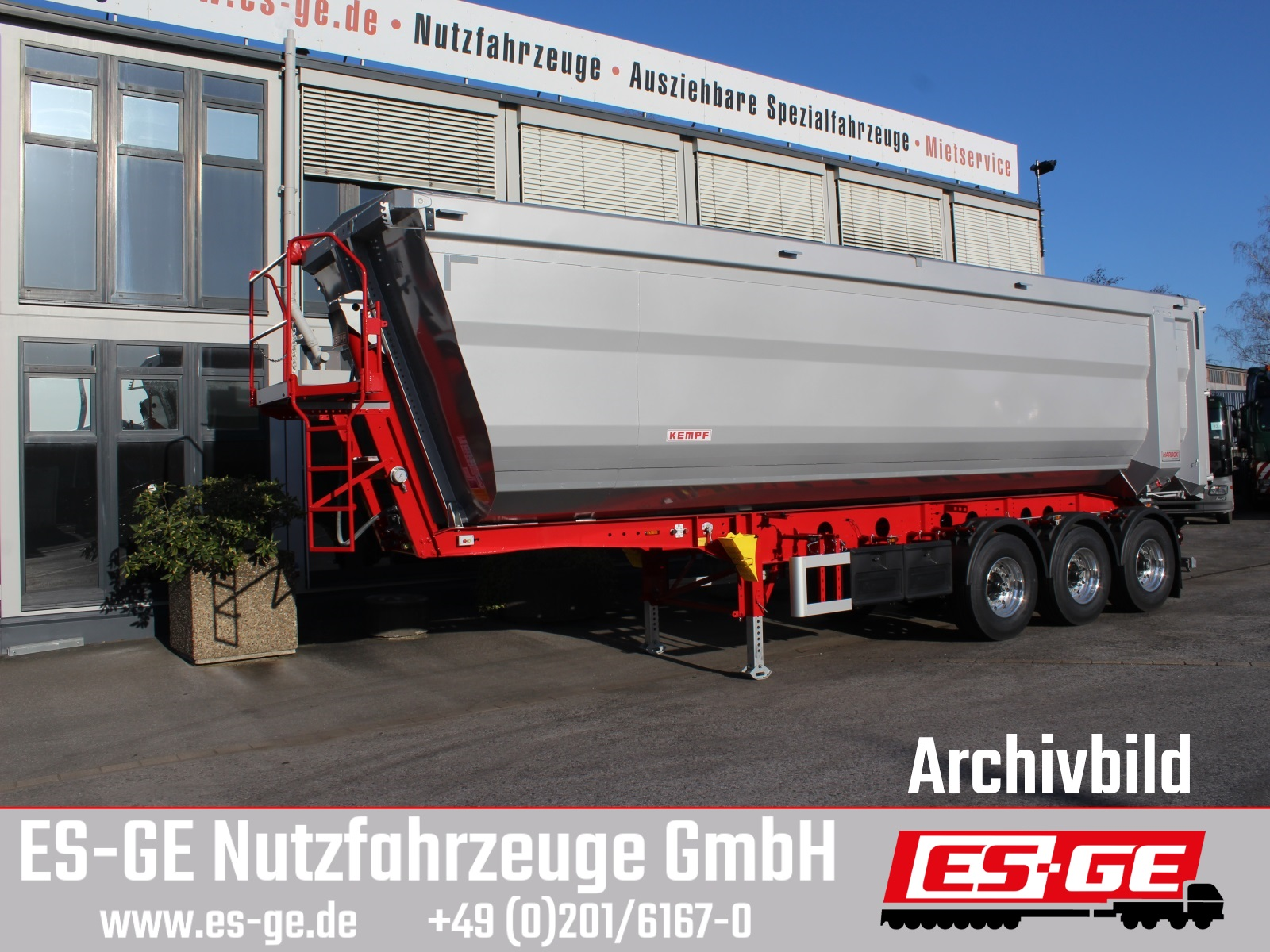 Kempf 3-Achs-Kippauflieger Stahlmulde 48,1 m³